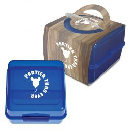 #CM 2116PH Split-Level Lunch Container With Custom Handle Box