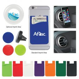 #CM 229 Silicone Magnetic Auto Air Vent Phone Wallet