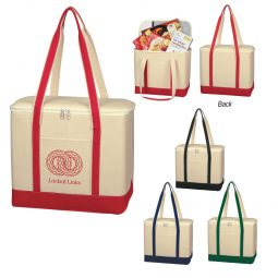 #CM 3280 Large Cotton Canvas Kooler Bag