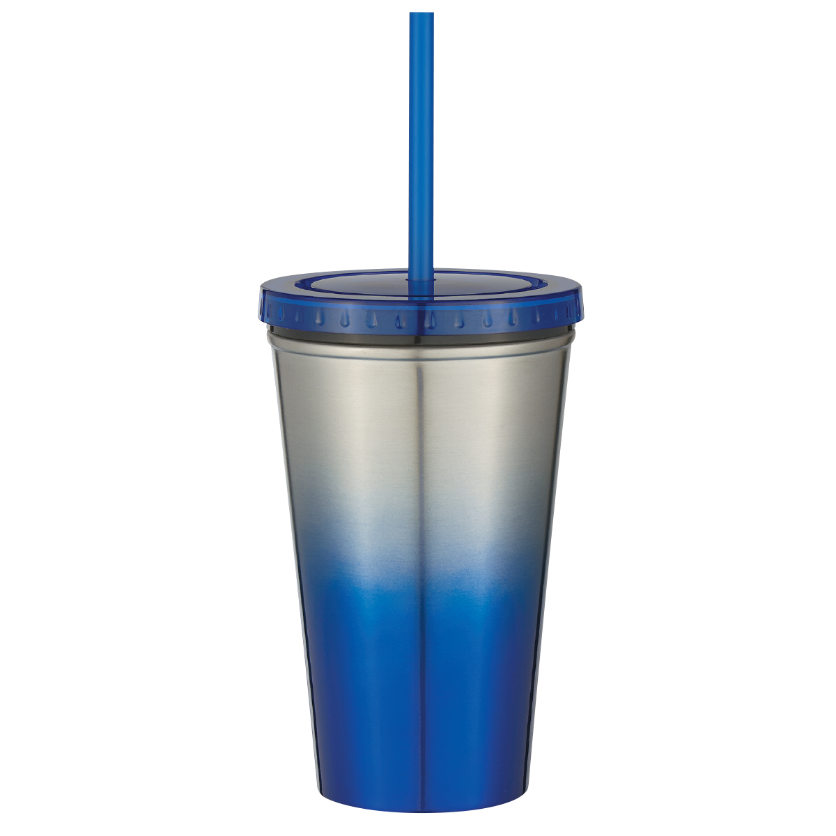 #CM 5745 - 16 Oz. Stainless Steel Double Wall Chroma Tumbler With Straw