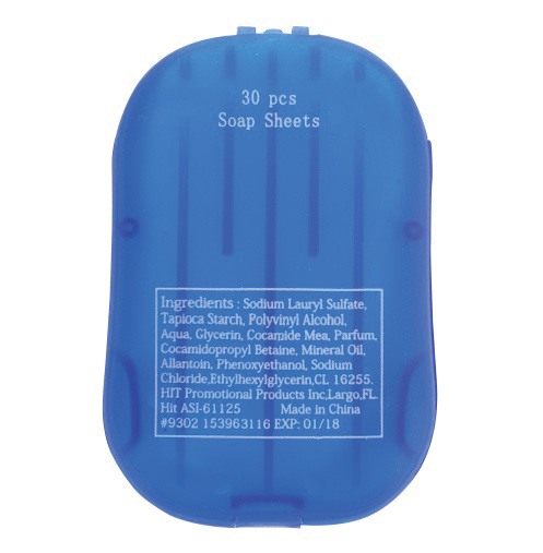 #CM 9302 Hand Soap Sheets In Compact Travel Case