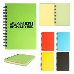 "#CM 6112 - 5"" x 7"" Spiral Notebook With Colored Paper"