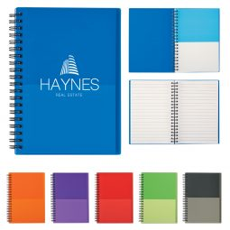 "#CM 6447 - 5"" x 7"" Two-Tone Spiral Notebook"