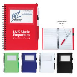 #CM 6920 Spiral Notebook With ID Window