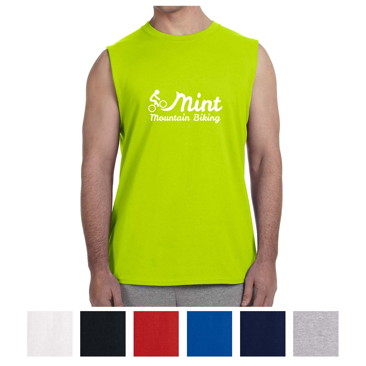Gildan Ultra Cotton Sleeveless T Shirt 2700 Custom Printed