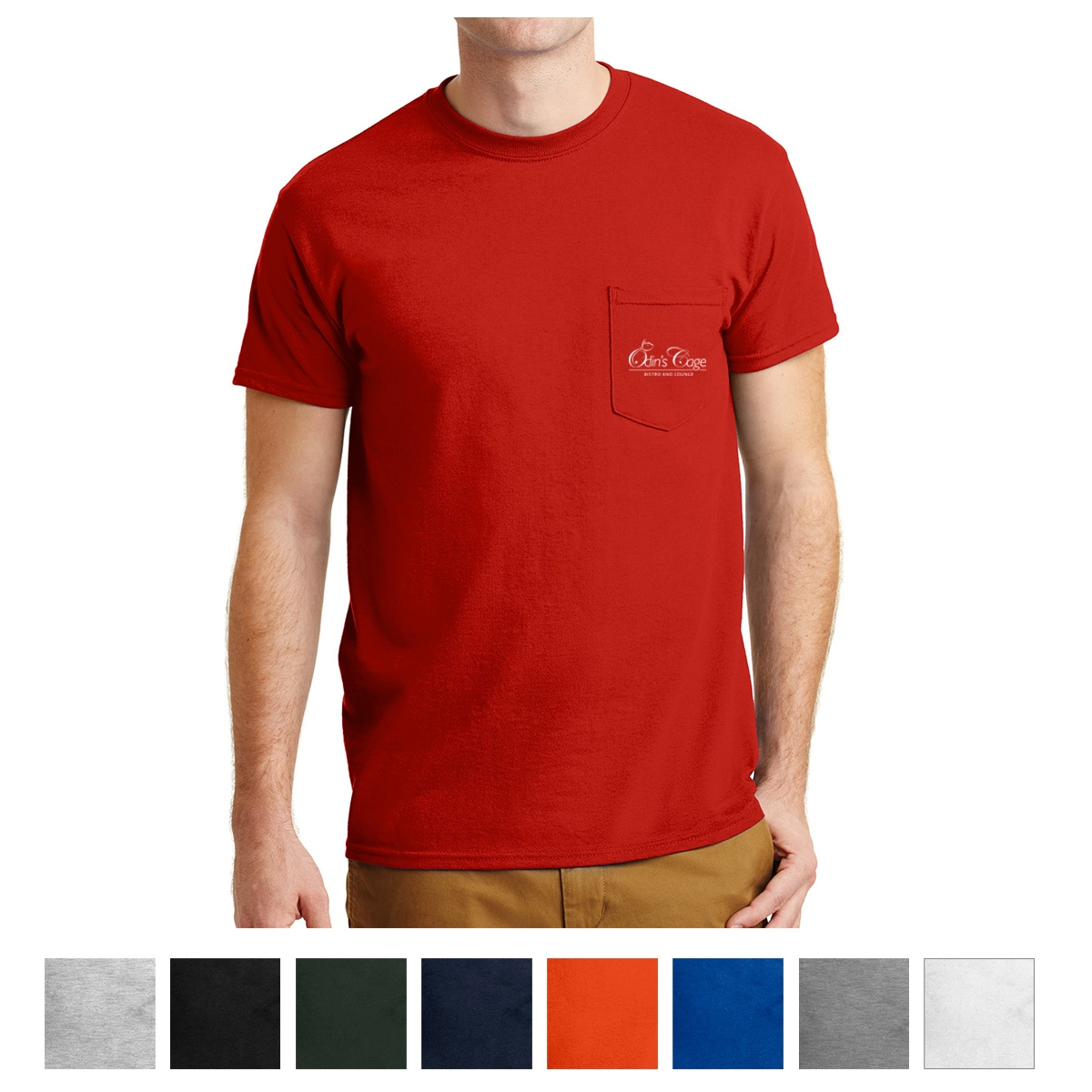 5c9952df Gildan® - DryBlend® 50 Cotton/50 Poly Pocket T-Shirt. 8300 - Custom ...