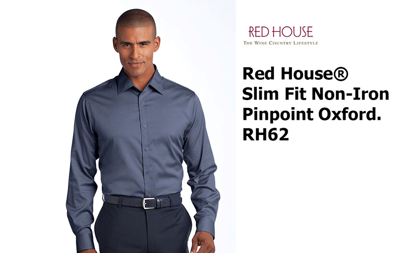 5d359099716 Red House® - Slim Fit Non-Iron Pinpoint Oxford. RH62 - Custom ...