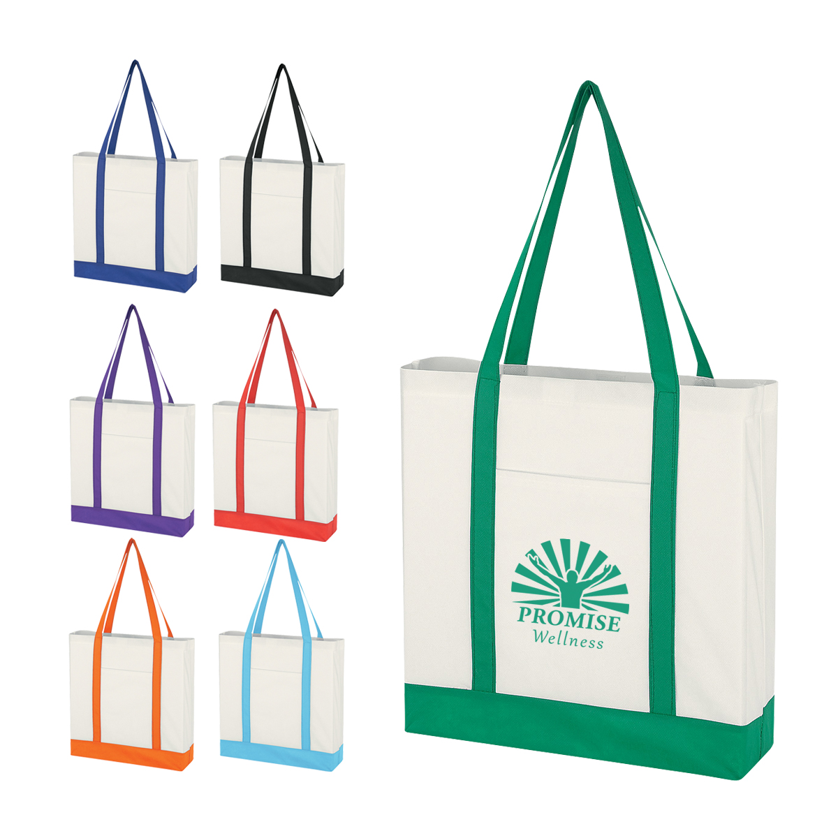 9c6304df3c #CM 3034 Non-Woven Tote Bag With Trim Colors | Custom Thumb Drive | CMI  PromotionsCMI Promotions