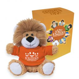 "#CM 1266P - 6"" Lovable Lion With Custom Box"