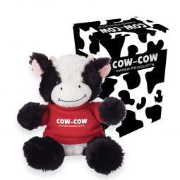 "#CM 1268P - 6"" Cuddly Cow With Custom Box"