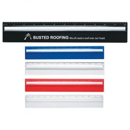 "#CM 1640 Plastic 12"" Ruler With Magnifying Glass"