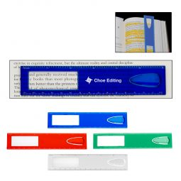 "#CM 1642 - 6"" Magnifier Ruler With Bookmark"