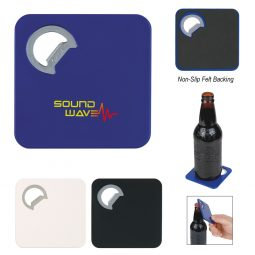 #CM 2008 Square Coaster With Bottle Opener