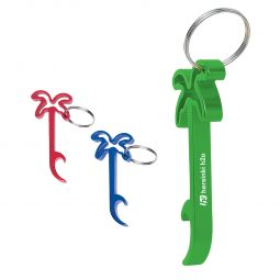 #CM 2061 Palm Tree Bottle Opener Key Ring