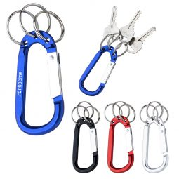 #CM 2090 - 8mm Carabiner With Triple Split Ring