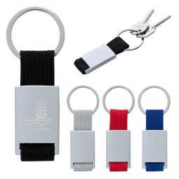 #CM 2094 Aluminum Key Tag With Web Strap