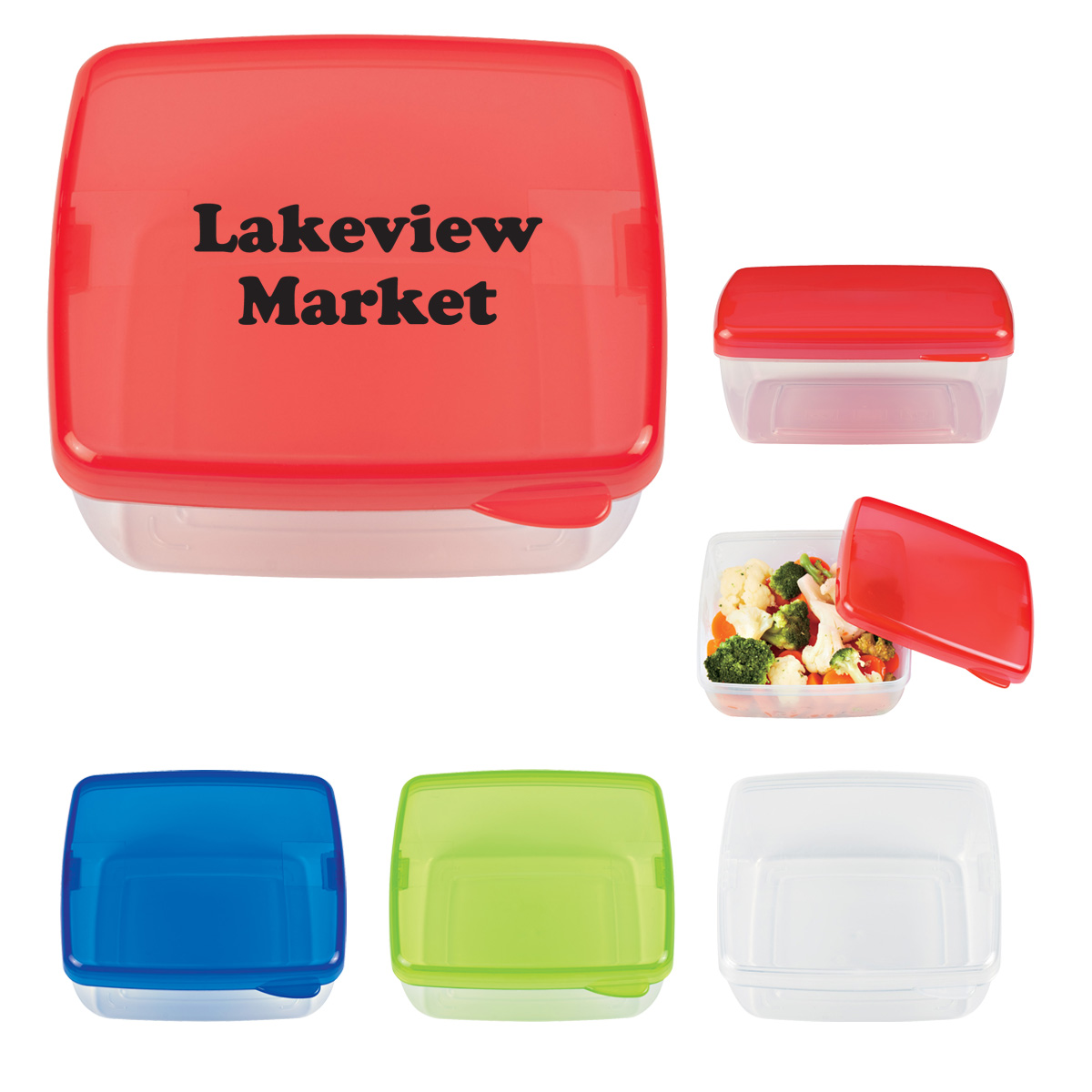 #CM 2125 Square Lunch Container