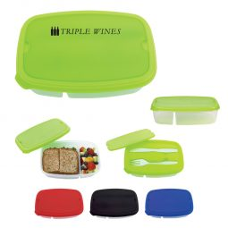 #CM 2126PH - 2-Section Lunch Container With Custom Handle Box
