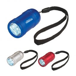 #CM 2500 Aluminum Small Stubby LED Flashlight With Strap