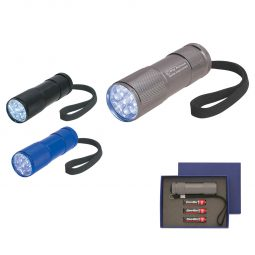 #CM 2502 The Stubby Aluminum LED Flashlight With Strap