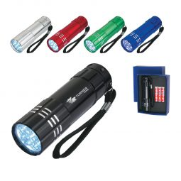 #CM 2509 Aluminum LED Flashlight With Strap