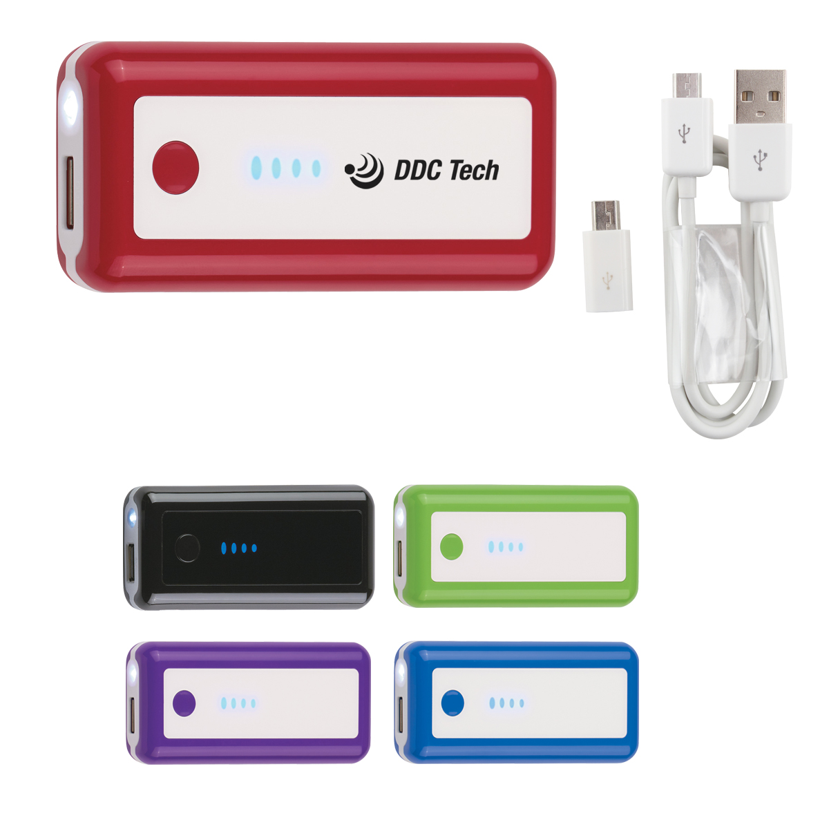 #CM 2620 Portable Charger With LED Light