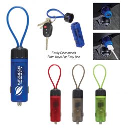 #CM 2653 Luminous USB Car Charger Key Strap