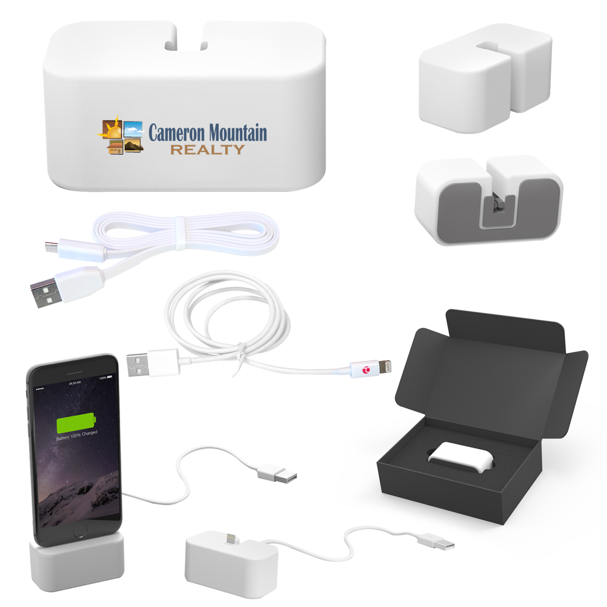 #CM 2665 PowerBase Charging & Docking Station With MFi Cable