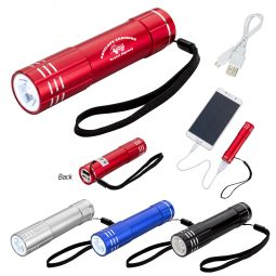 #CM 2673P UL Listed Power Bank Flashlight With Custom Box