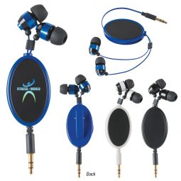 #CM 2732 Retractable Metal Earbuds