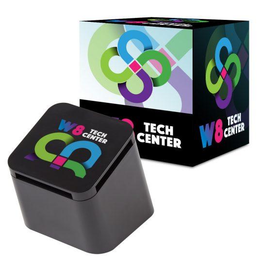 #CM 2743P Slanted Cube Wireless Speaker With Custom Box