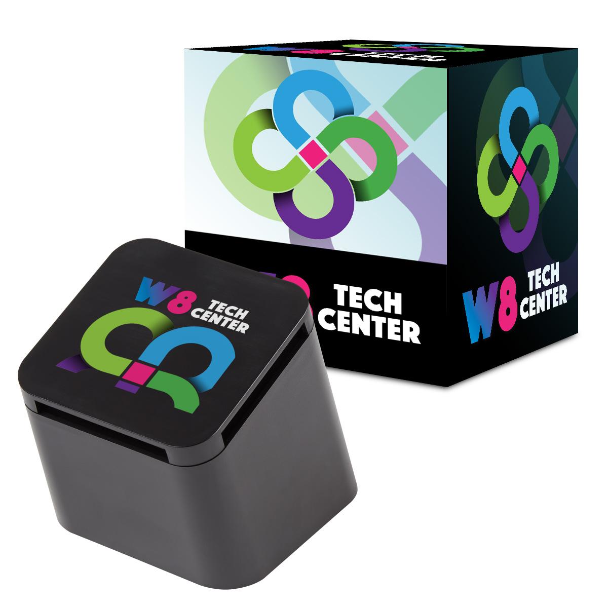 #CM 2743P Slanted Cube Wireless Speaker With Custom Box 1