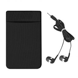 #CM 2793 Stretch Phone Card Sleeve With Earbuds