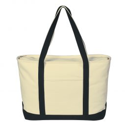 #CM 3235 Large Heavy Cotton Canvas Boat Tote Bag