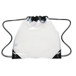 #CM 3606 Touchdown Clear Drawstring Backpack