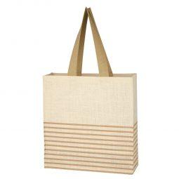 #CM 3618 Dash Jute Tote Bag
