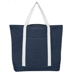 #CM 3630 Denim Shopping Tote Bag