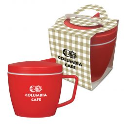 #CM 5850PH - 14 Oz. Thermal Mug Set With Custom Handle Box