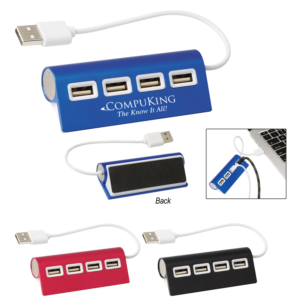 #CM 2833 – 4-Port Aluminum Wave USB Hub 1