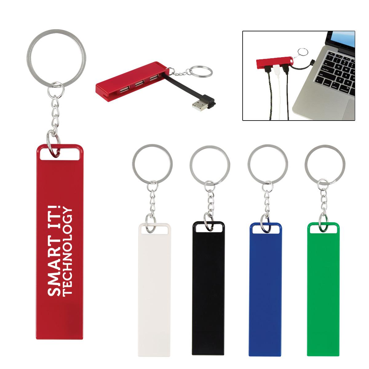#CM 2847 - 3-Port Traveler USB Hub Key Chain