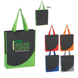 #CM 3028 Non-Woven Tote Bag With Accent Trim