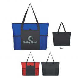 #CM 3091 Non-Woven Voyager Zippered Tote Bag