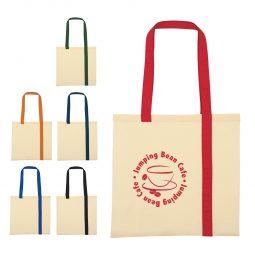 #CM 3206 Striped Economy Cotton Canvas Tote Bag