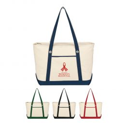 #CM 3225 Large Cotton Canvas Sailing Tote Bag