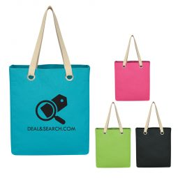 #CM 3232 Vibrant Cotton Canvas Tote Bag