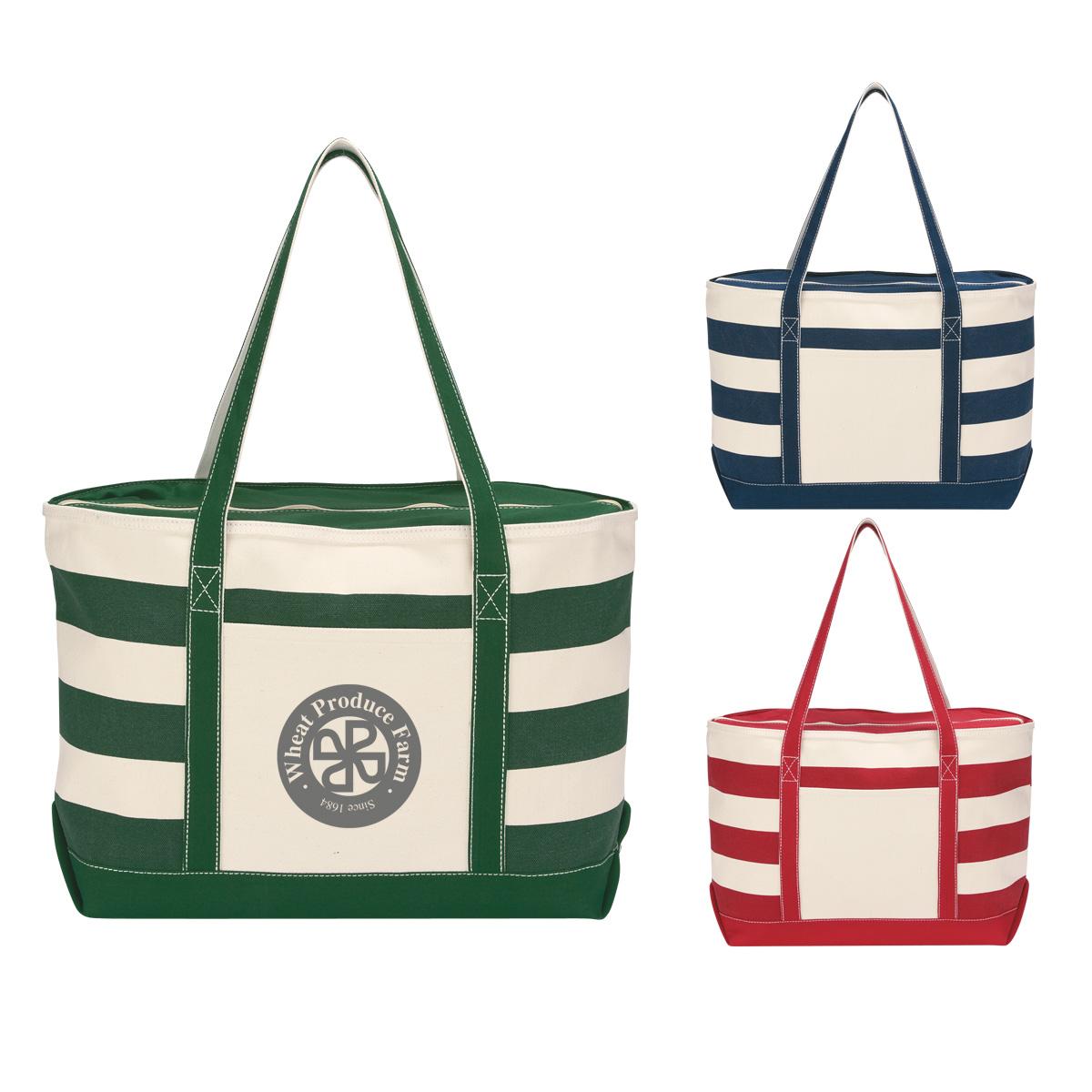 #CM 3240 Cotton Canvas Nautical Tote Bag