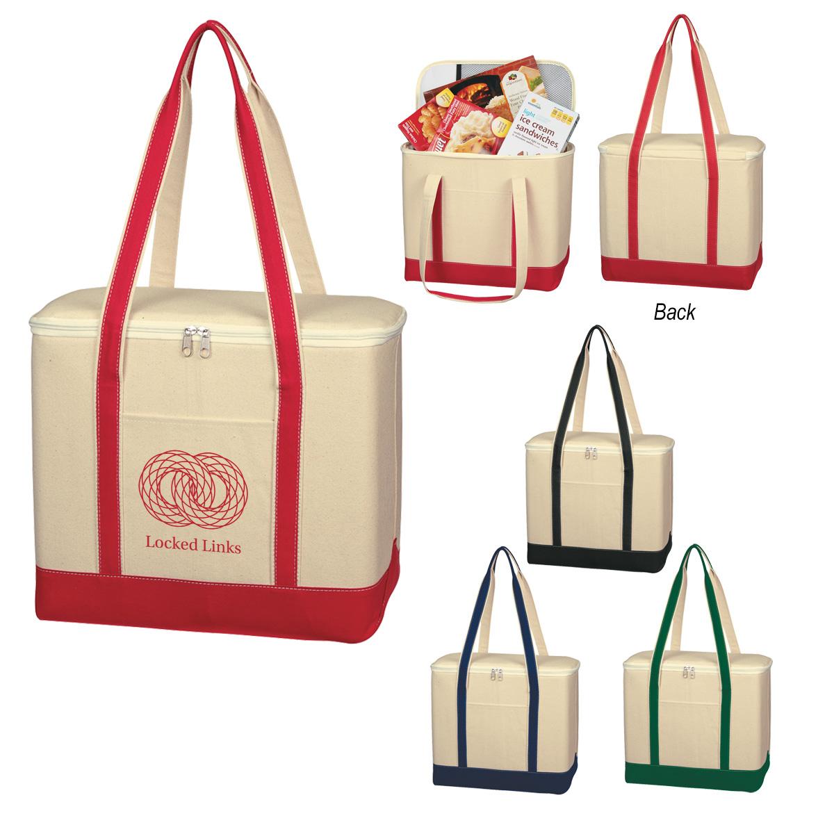 #CM 3280 Large Cotton Canvas Kooler Bag