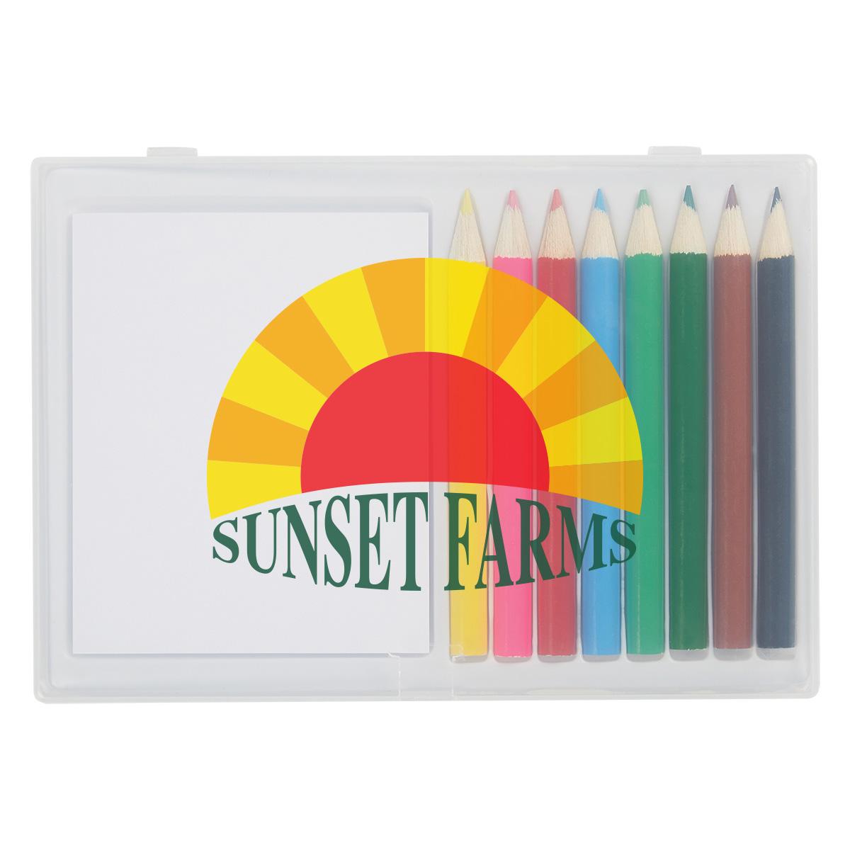 #CM 461 - 8-Piece Colored Pencil Art Set In Case