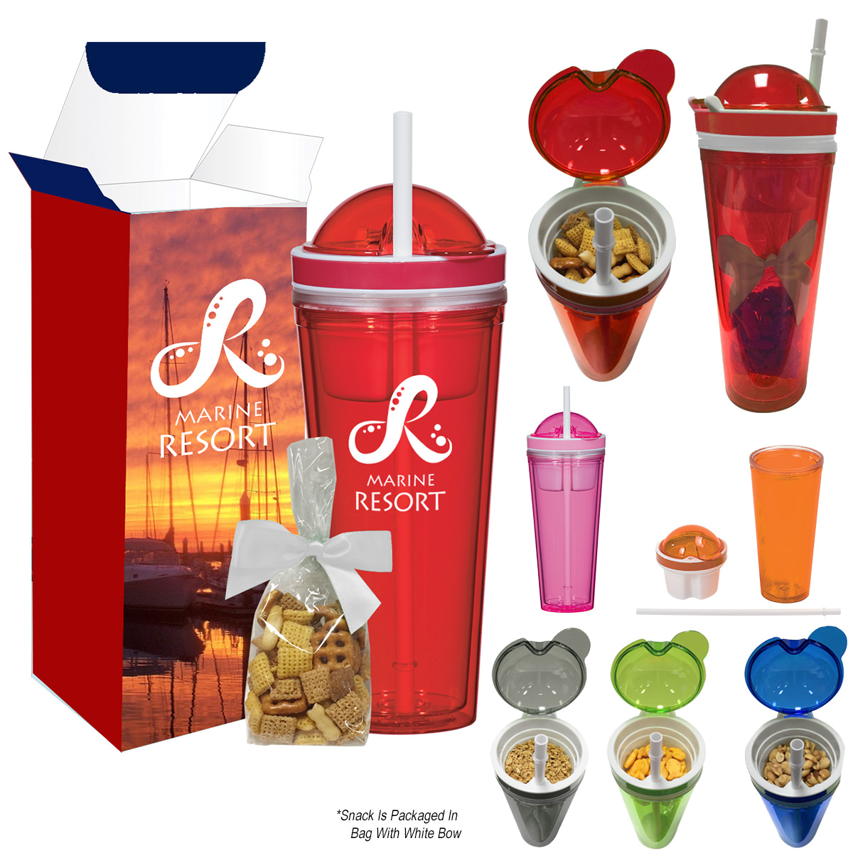 #CM 5947PF Snack Attack Tumbler With Stuffer And Custom Box