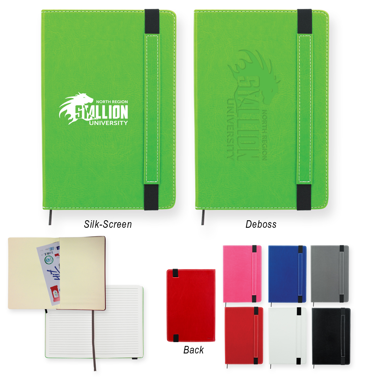 #CM 6913P Charlotte Journal Notebook With Custom Box